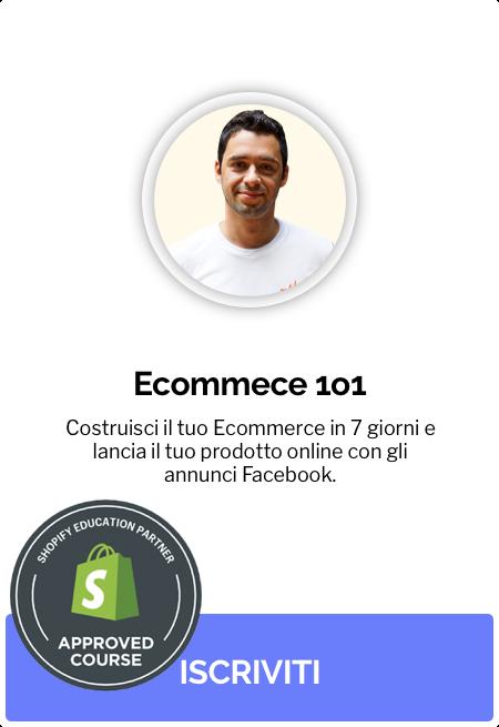 corso ecommerce shopify italiano